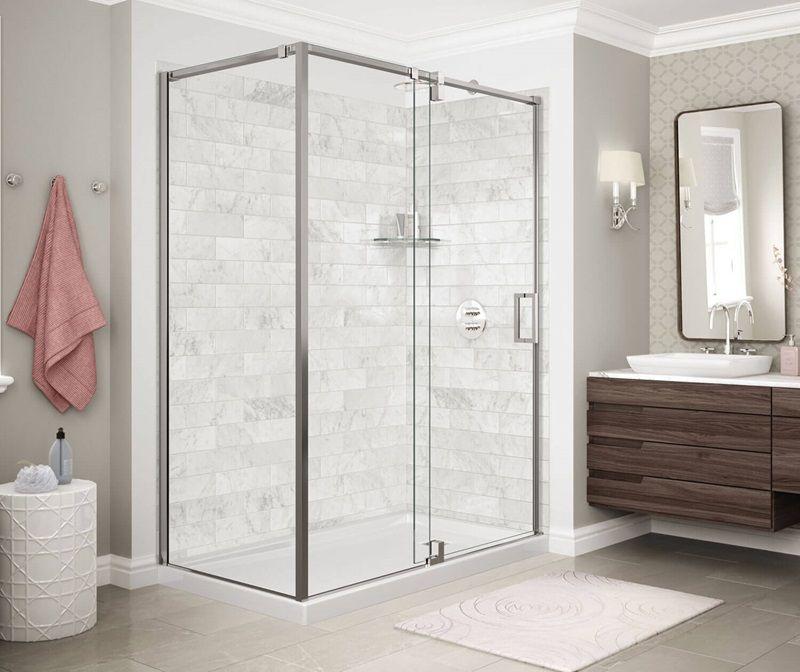 Modulr Pivot Shower Door Corner 60 X 36 X 78 In 8 Mm Shower