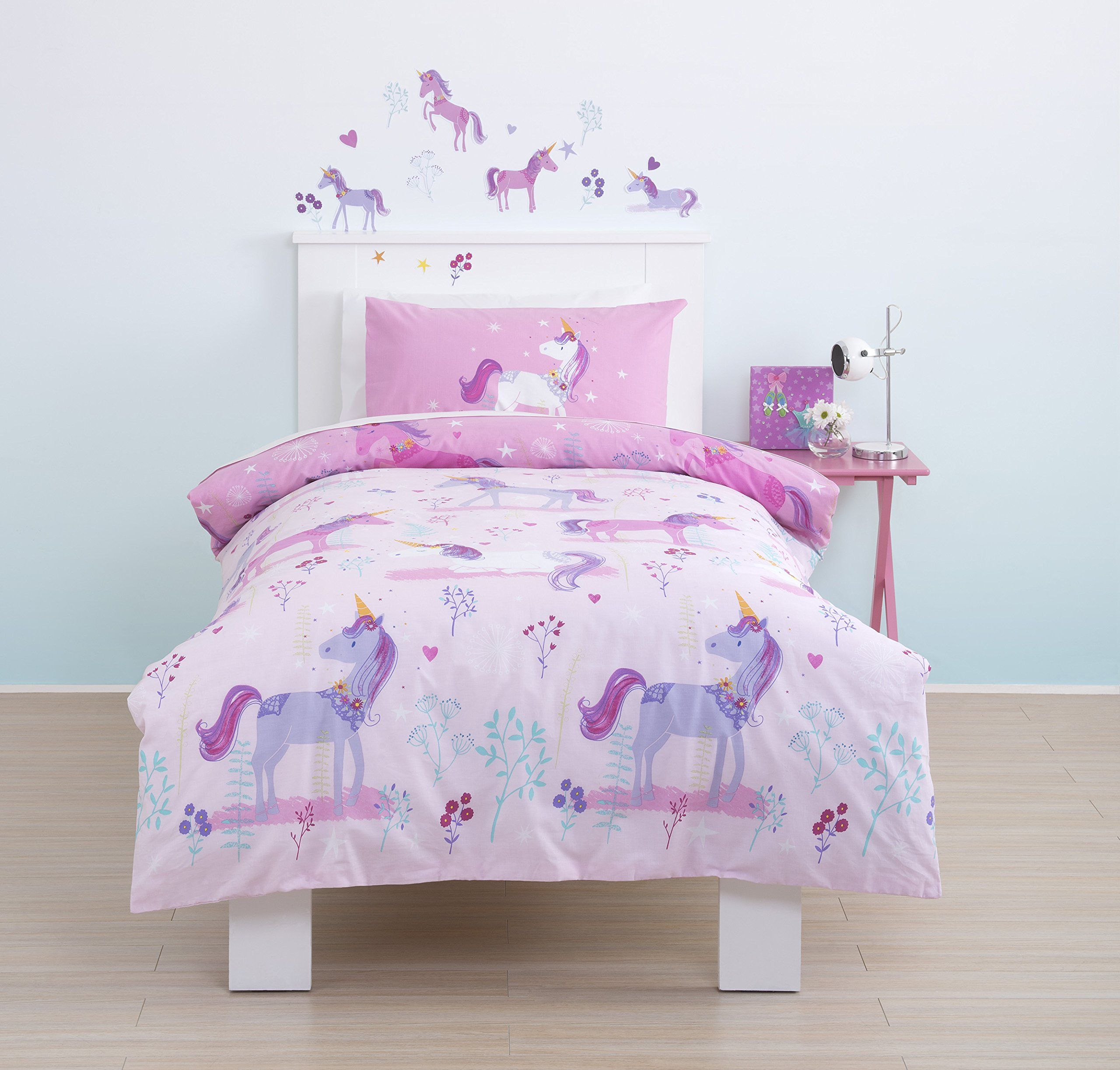 Cute, Cute, Cute! Magical Unicorn Toddler Cot Bed Duvet