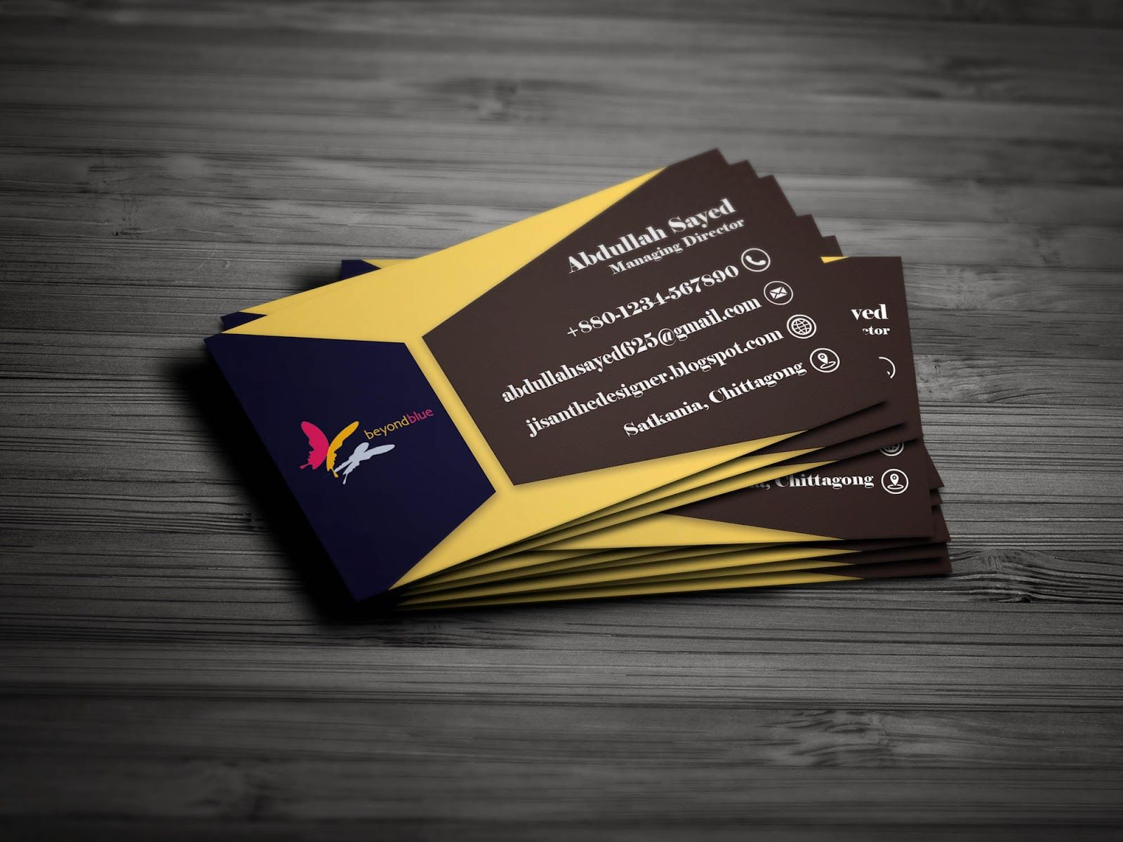 a blog about designing good quality and unique business card logo