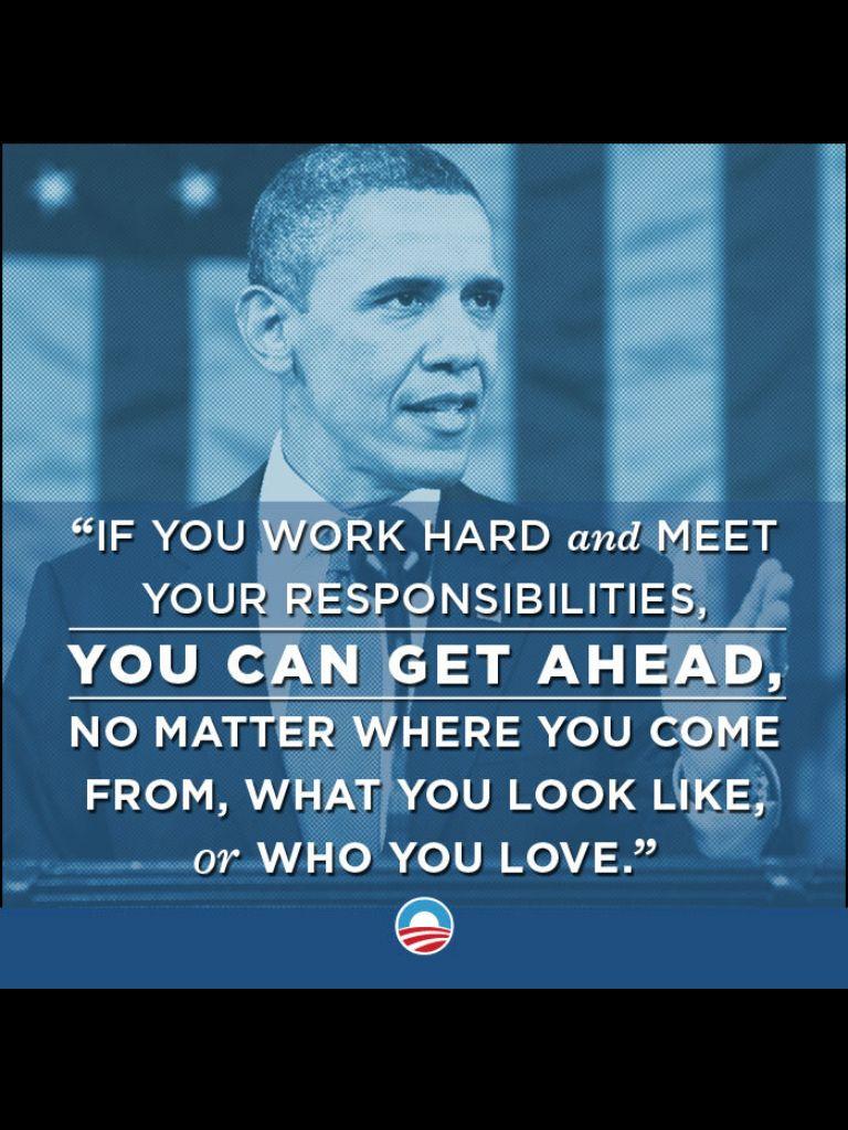 Inspiration by Barack Obama.