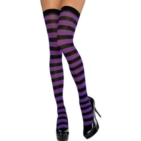 9e839d5be1f55 Adult Purple and Black Thigh-High Stockings - | Medias in 2019 ...
