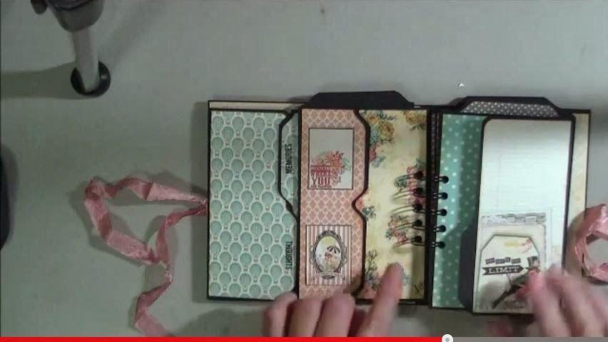 VIDEO File Folder Mini Album made using the envelope punch board