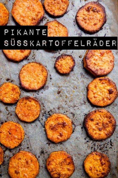 Pikante Süßkartoffelräder aus dem Ofen - volle Süßkartoffelpower - Kuechenchaotin