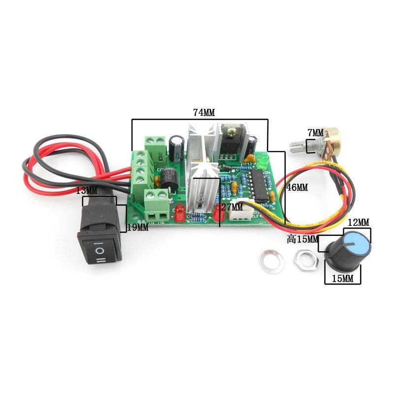 10V 12V 24V 36V PWM DC controller with Positive inversion switch ...