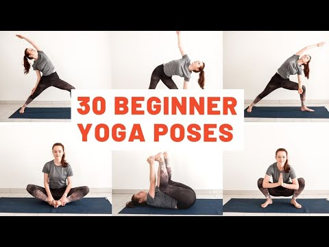 30 most common beginner yoga poses in 3 minutes  yoga for