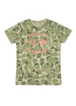 Scotch Shrunk T-shirt Lionheart met camouflageprint