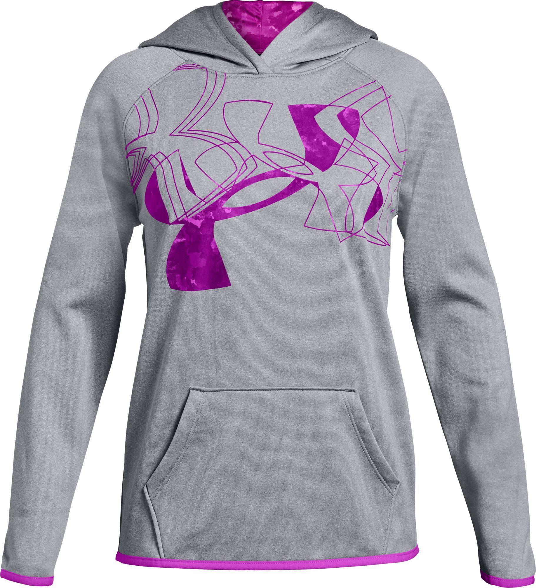 1969bad6 Under Armour Girls' Armour Fleece Print Filled Logo Hoodie, Size ...