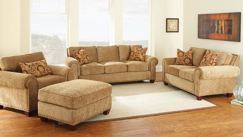 4 piece living room set living room set in gold chenille images steve 18513