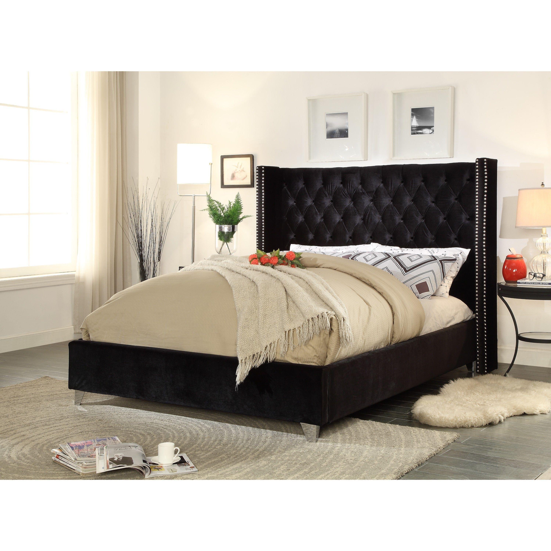 Aiden Black Velvet Bed Black Velvet Bed Black Bedding Velvet Bed