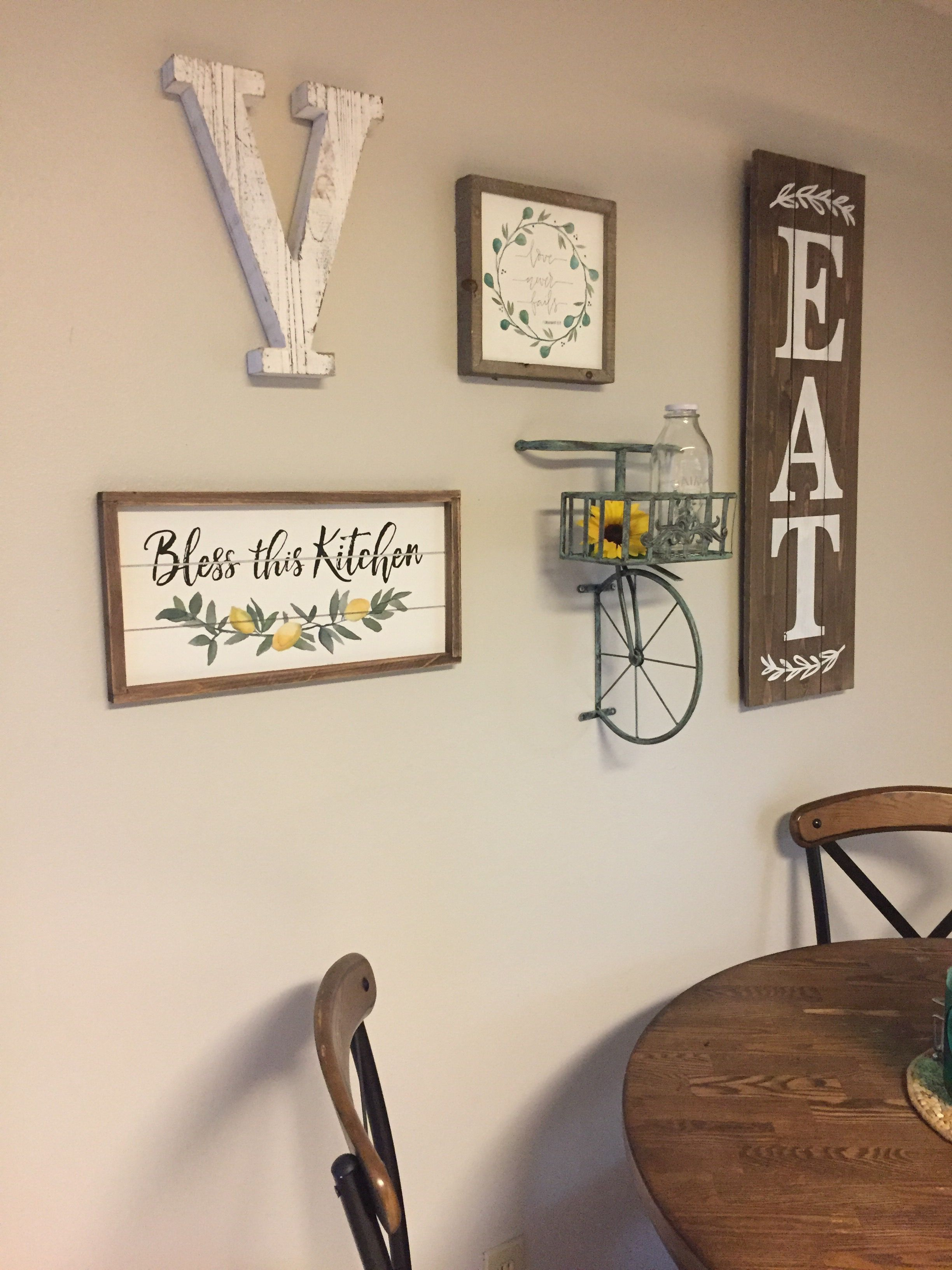 Kitchen Wall Decor All From Hobby Lobby Modernwalldecorglam Walldecorbedroomcountry