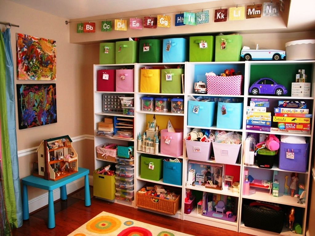 20 adorable kids playroom organization ideas for your for Kids toy rooms