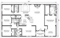 5 Bedroom 4 Bath Rectangle Floor Plan Google Search Modular Home Floor Plans Ranch House Floor Plans Basement House Plans