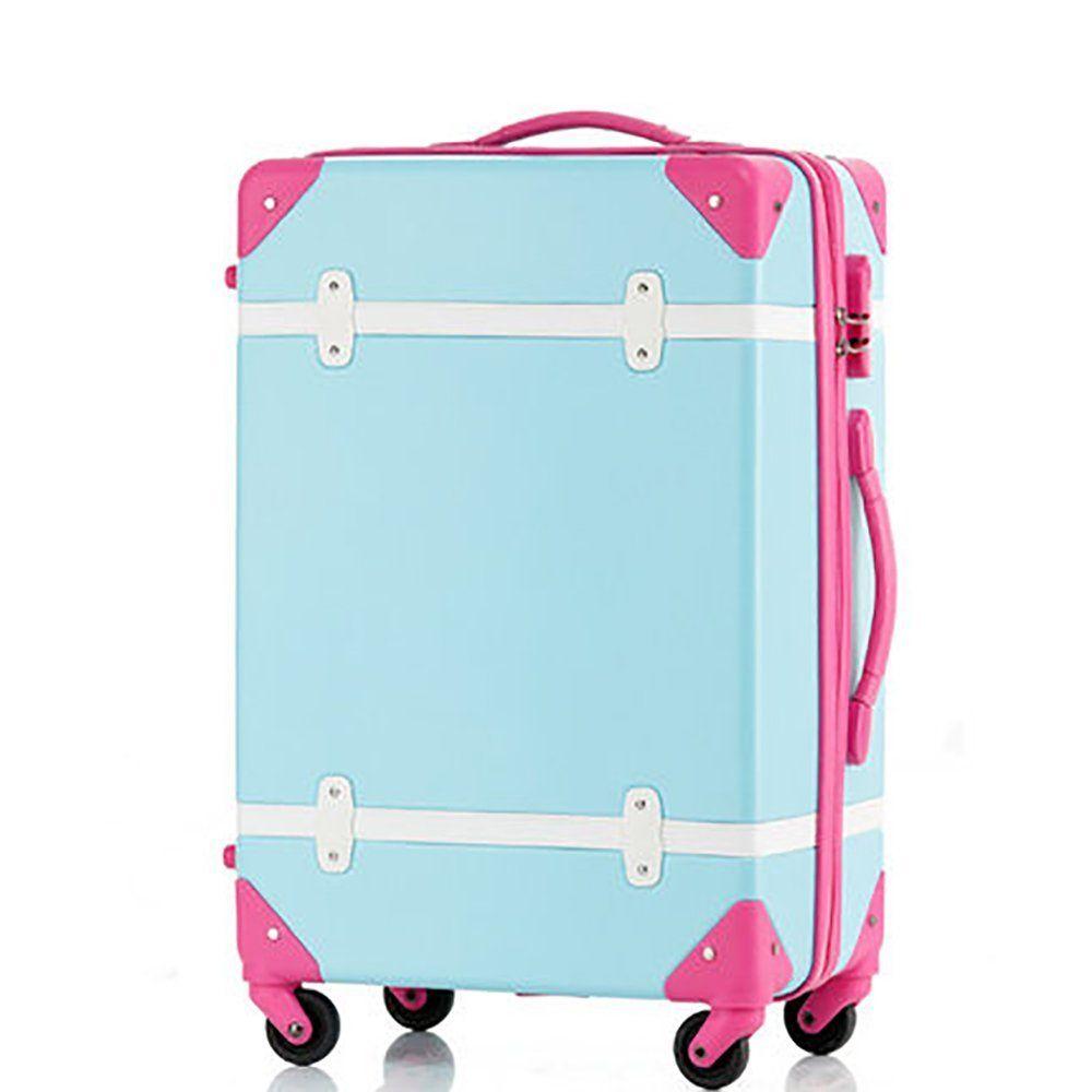 Travelhouse Hard Shell ABS Retro Vintage Luggage 4 wheels Suitcase ...