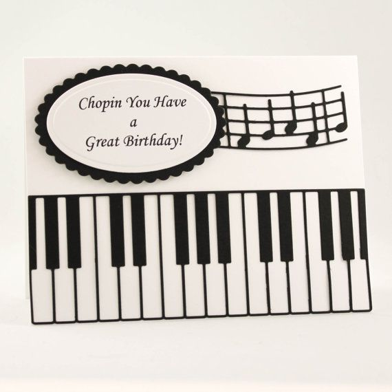Handmade Birthday Card Happy Birthday Card Music Teacher Card – Musical Cards for Birthday