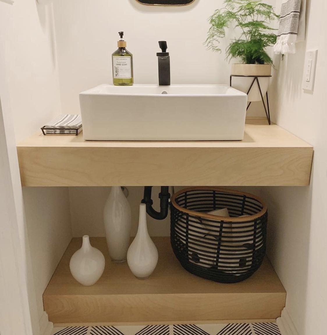Bathroom Vanity Ideas For Diy Hunker In 2020 Floating Bathroom Vanities Diy Bathroom Vanity Bathroom Vanity