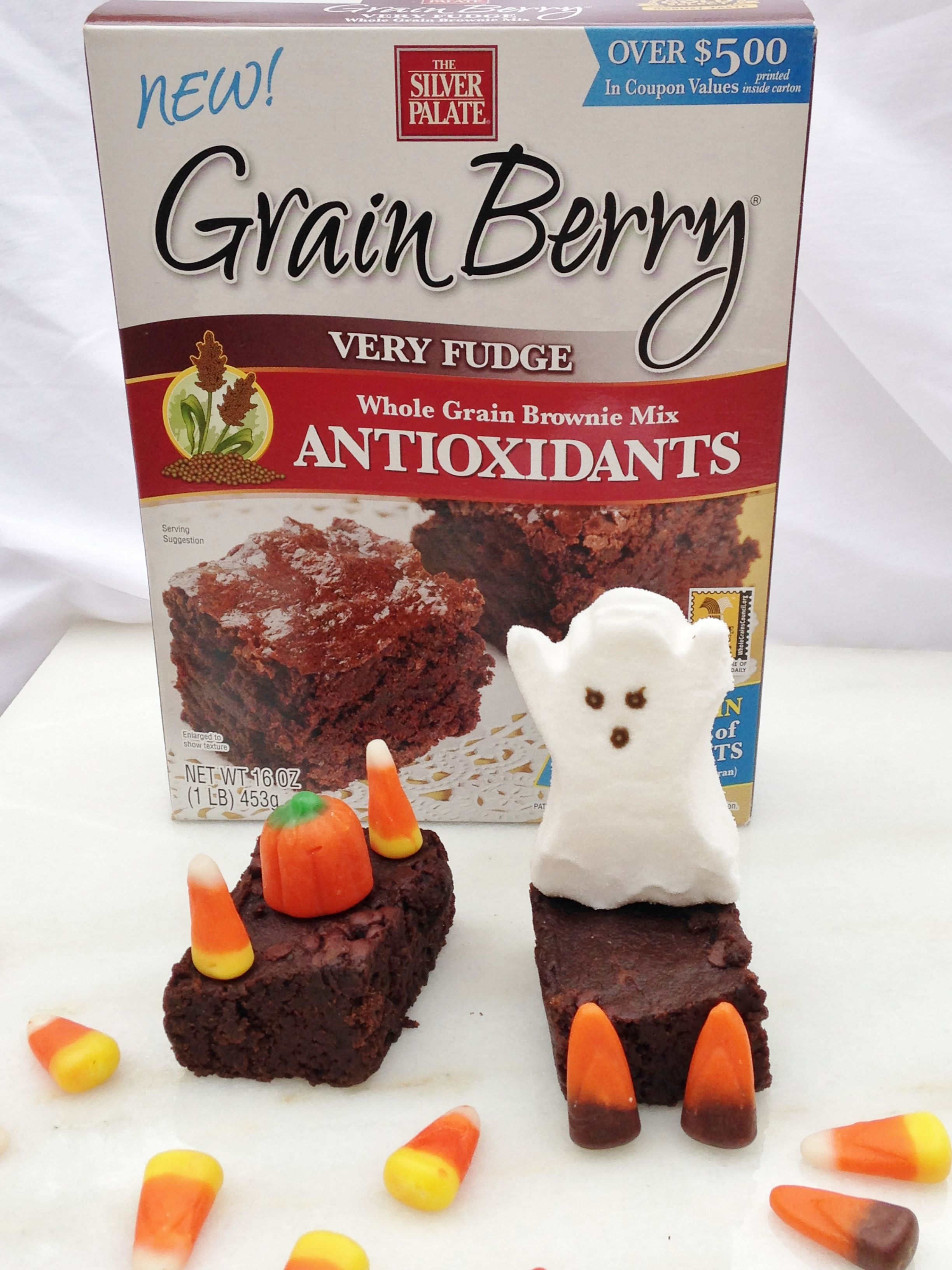 Spooky #GrainBerry #Halloween Whole Grain Antioxidant Brownies! #Delish!
