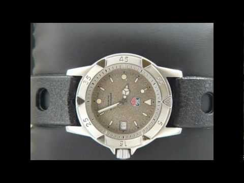 Tag Heuer 1500 Man Granite Dial On A Vintage Rubber Band Wd1211 K 20