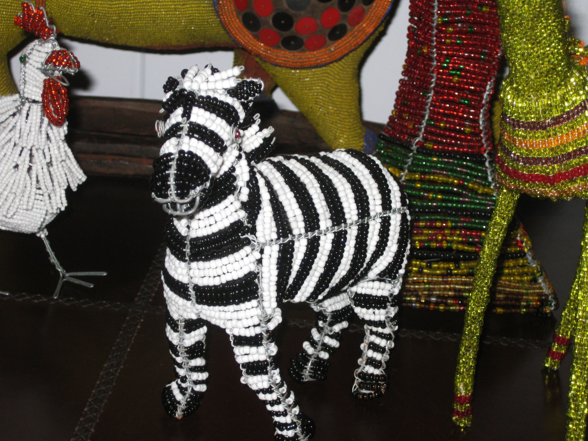 Zebra and other animals made from wire and beads | Rooms & Decor ...