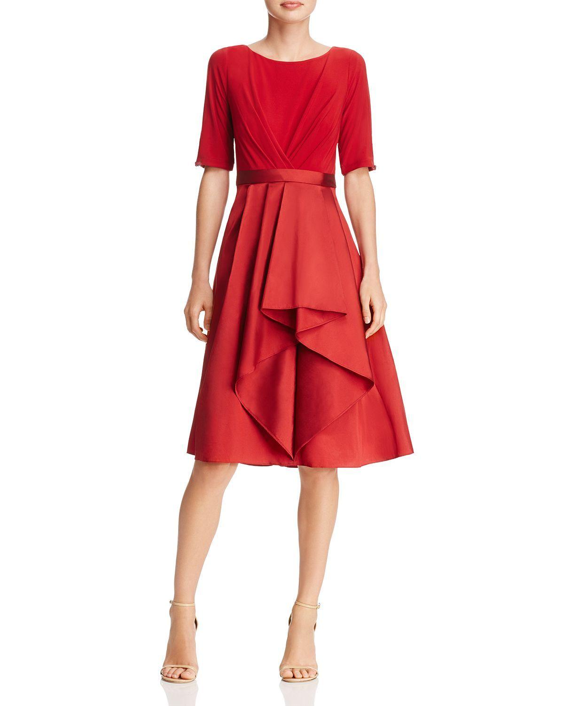 Adrianna Papell Taffeta Skirt Dress Women Bloomingdale S Red A Line Dress Taffeta Skirt Dresses [ 1500 x 1230 Pixel ]