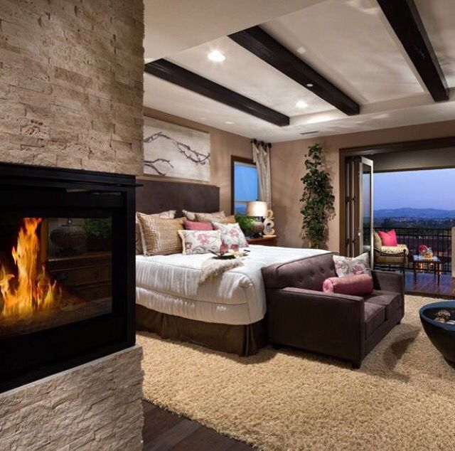 Like Placement Of Fire Place And Balcony In 2019 Home Decor Bedroom Bedroom Decor