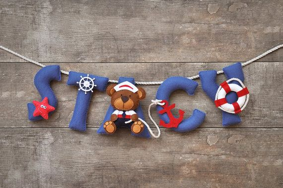 Hey, I found this really awesome Etsy listing at https://www.etsy.com/listing/291082785/felt-name-banner-nautical-teddy-nursery