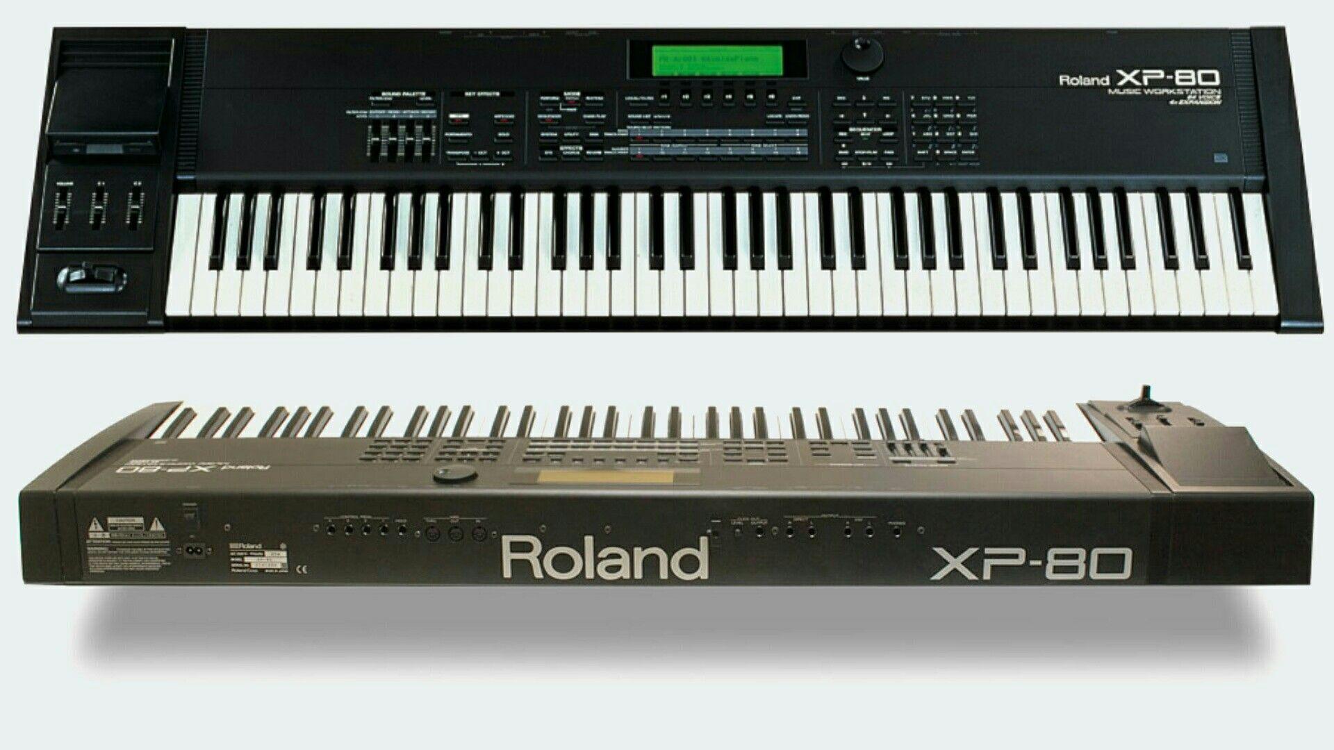 Roland Xp 80 Synthesizer Vintage Electronics Drum Machine