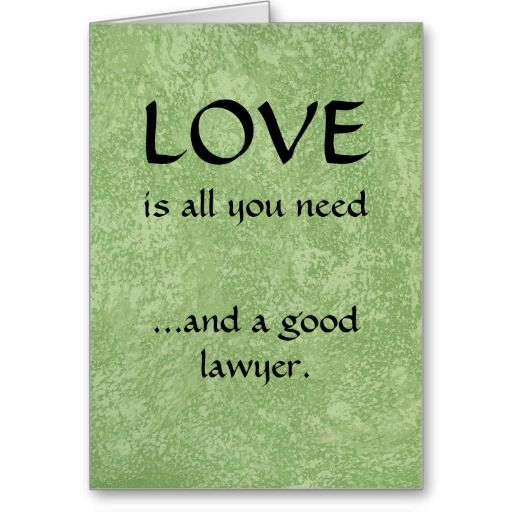 And A Good Lawyer Divorce Attorney Greeting Card Funny Funnylawyerfunnydivorceconsciousuncoupling