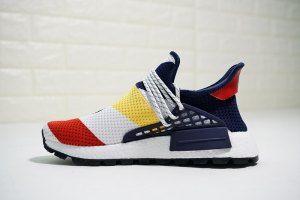 1cb60e37862fc Mens Womens Pharrell x adidas NMD Human Race Trail Deep Blue White Red  Yellow F99766 Running