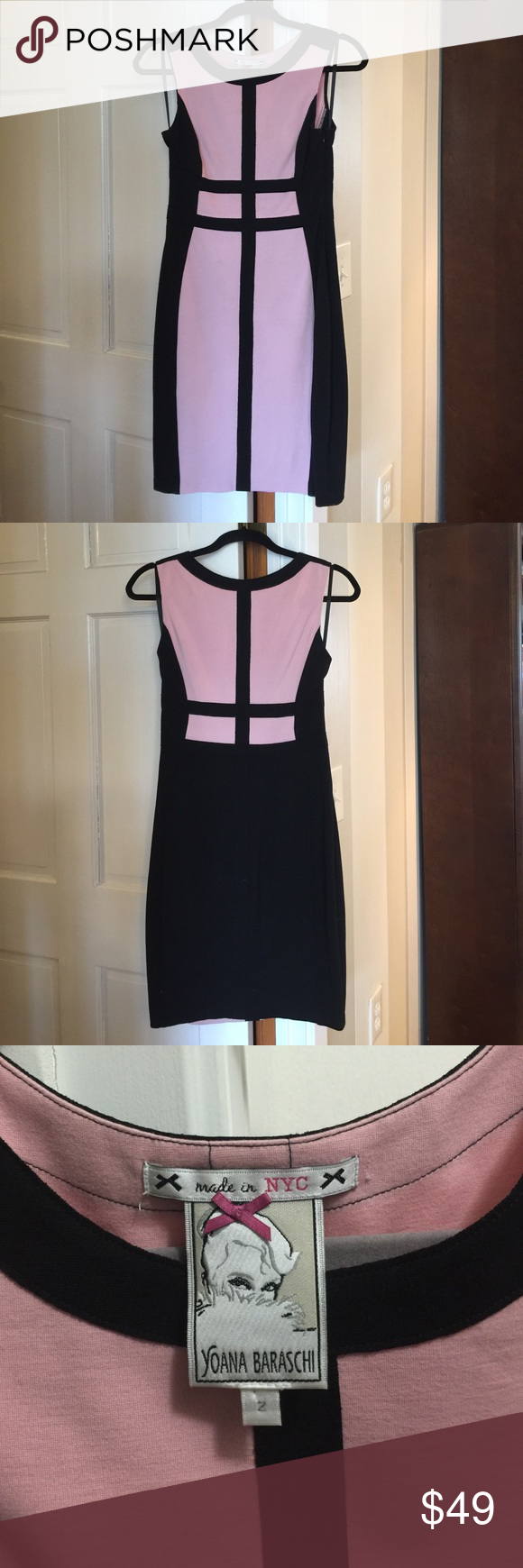 Yoana baraschi debie black dress pink black body pink black and