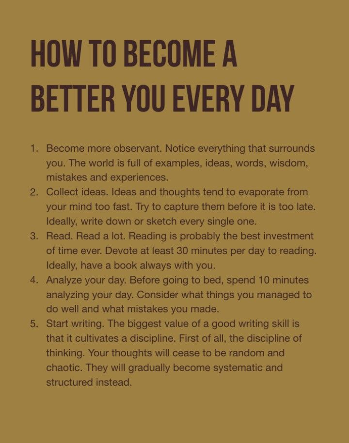 How to become a better you every day!