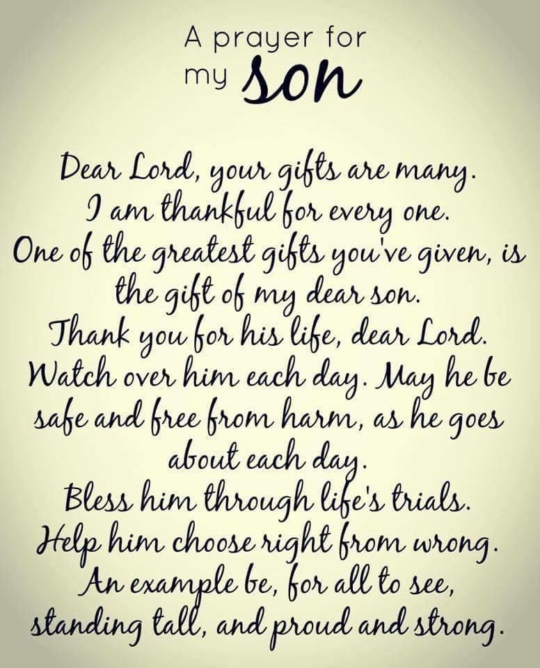 Letter From Mother To Son To All My Boys  Love Always And