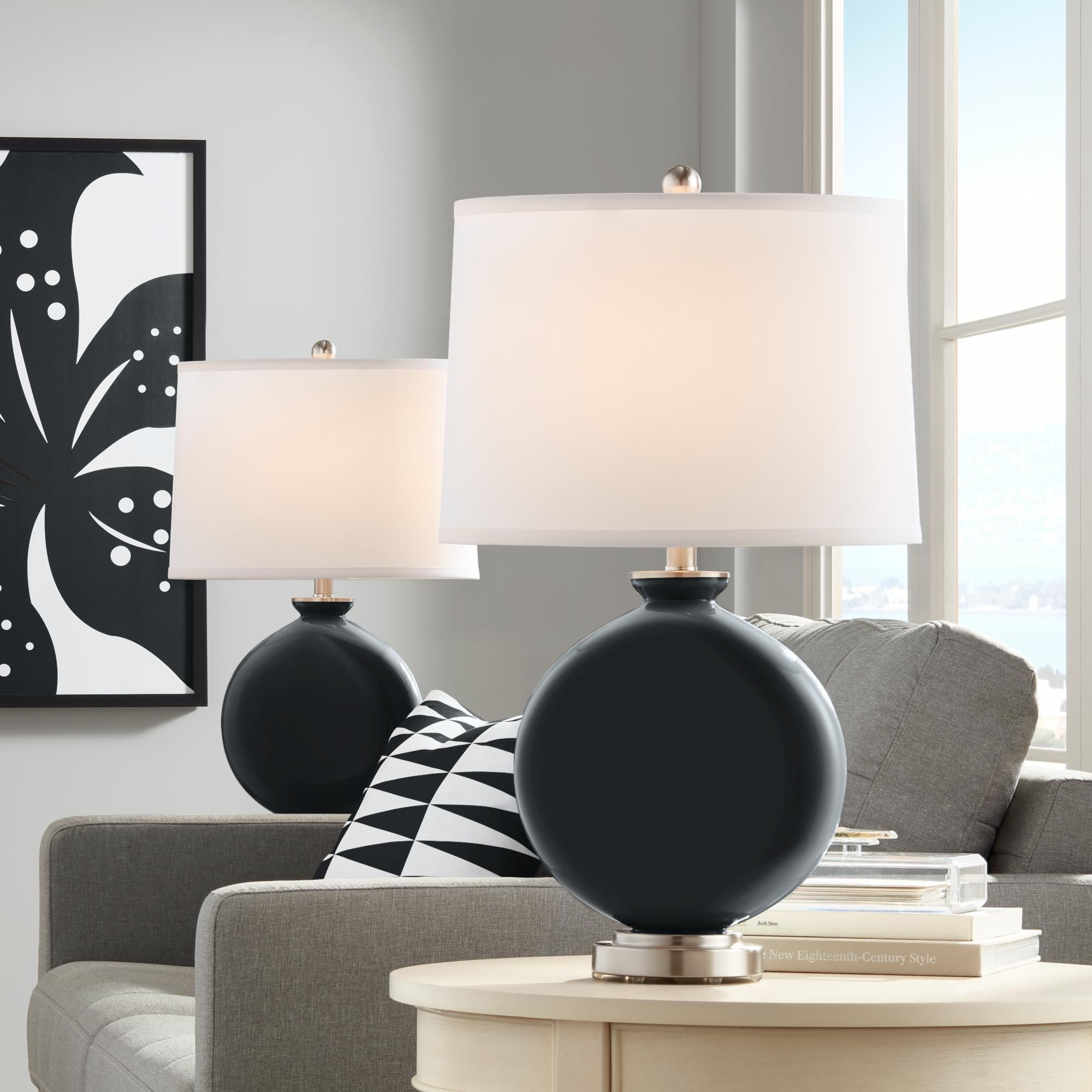 Black Of Night Carrie Table Lamp Set Of 2 Di 2020 #table #lamp #sets #living #room