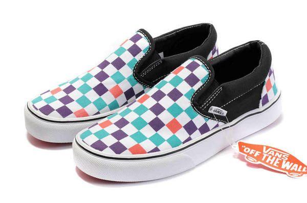2f9171b396b0 Vans Classic Checkerboard Slip-On Black White Purple Red Skate Shoes  y019   -  39.99   Vans Shop