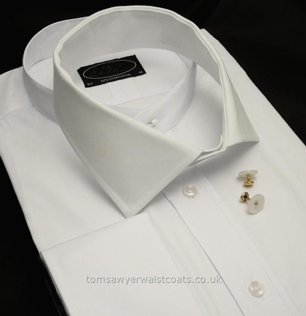 008482270f Shirts   Detachable Collars and Collarless Legal Shirts   Soft Detachable  Standard Collar in White
