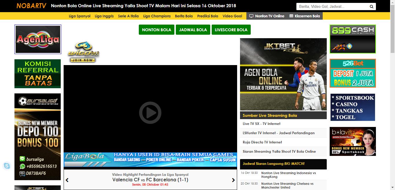 Nonton Bola Online Live Streaming Yalla Shoot Tv Malam Hari Ini Selasa