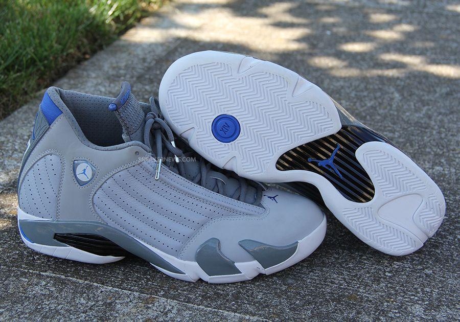 check out c3e51 4a47a Air Jordan 14 - Grey - Sport Blue - White - SneakerNews.com