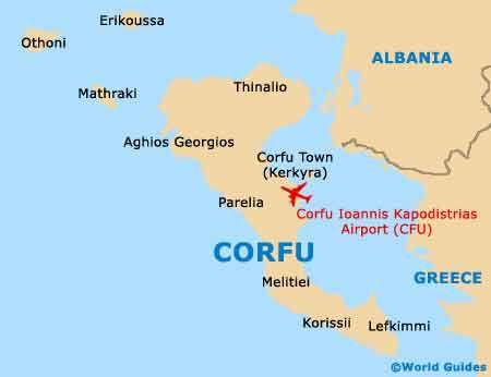 map of the island of corfu greece tuchman beaches guide