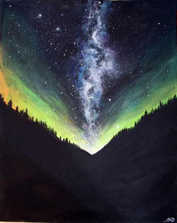 ARTCOSMOS.com: Milky Way by Kresalek Dávid, (Painting / Realistic),  on . Available on ARTCOSMOS.com. Discover unique artworks and learn more about the artists, watch videos about their lives, how they work and what inspires them!
