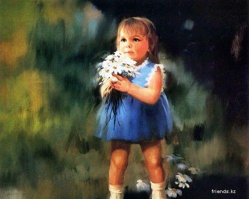 Дети в рисунках Дональда Золана | Покраска обоев
