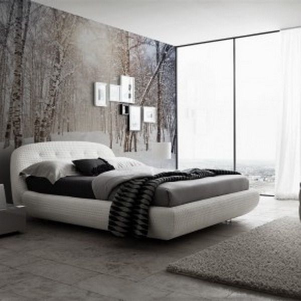 Modern winter bedroom wallpaper murals home decoration pinterest winter bedroom wallpaper Modern wallpaper for bedroom