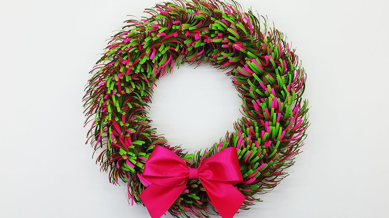 Paper Wreath For Christmas Diy Decorations Ideas