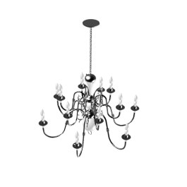 Antique Chandelier 3DS Max model | Electrical 3D CAD models ...
