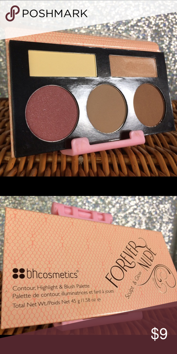 BH cosmetics forever nude sculpt and glow palette This plus has a bronzer consular color blush and a couple of highlighters bh cosmetics Makeup Blush