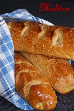 Baguettes viennoises moelleuses pour petit-déjeuner gourmand...