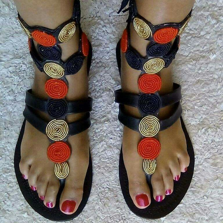 76de567b1c801 African maasai sandals! | Summer Gear | Sandals, Leather sandals ...