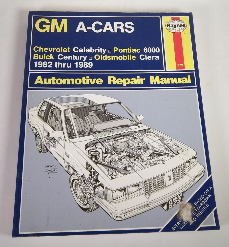 haynes gm a cars auto repair manual no 829 1982 1989 pontiac 6000 rh pinterest com Product Factory Service Manuals Car Alarm Product Manuals