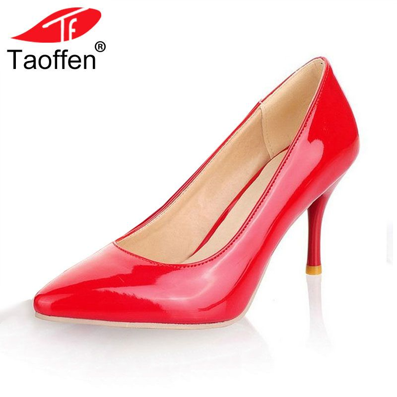 Fashion Pointed Toe Rivet Strap Shallow Mouth High Heel
