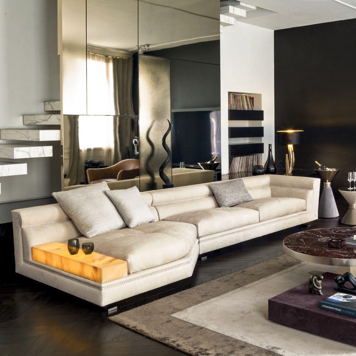 Ansel Sectional Glamour Living Room Design At Cassoni Enchanting Italian Living Room Design 2018
