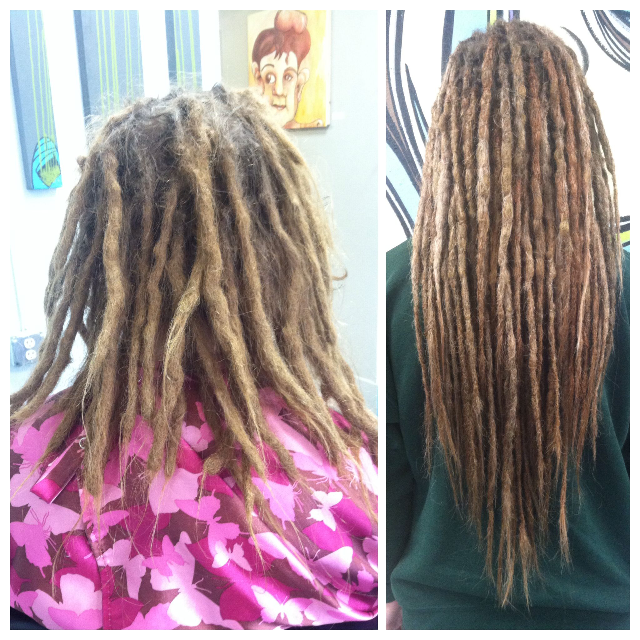 Dread Lock Maintenance And Extensions At G Spot Hair Design Des