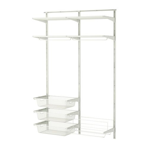Algot cr maill re tablettes barre ikea my so dreamed home pinterest ikea tablette et - Meuble cremaillere ...